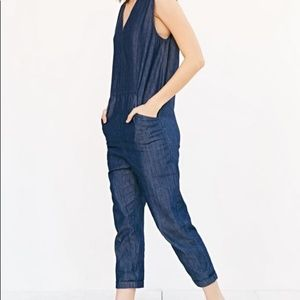 Urban Outfitters | Denim Exaggerated Jumpsuit M